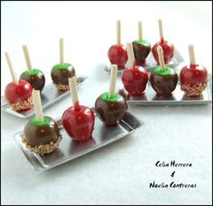 I can't take these miniature candy apples.  Why, as a grown woman, do I love miniatures so much?