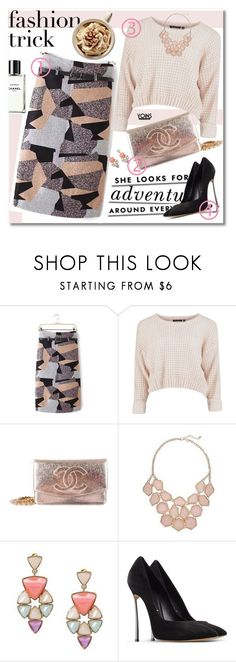 """""""New Year Wish List"""" by yoinscollection ❤ liked on Polyvore featuring Chanel, Kate Spade and Casadei"""