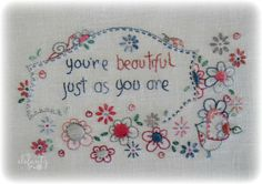 You are beautiful...pattern by Jenny of Elefantz Designs