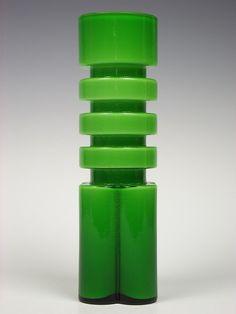 Shop 118 East: Alsterfors glass vase. Designed by Per-Olof Ström