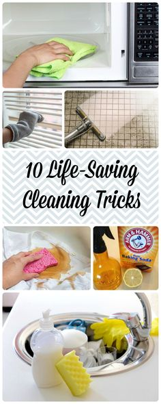 10 Amazing Cleaning Tips and Tricks that actually work. Don't waste any more valuable tie cleaning!