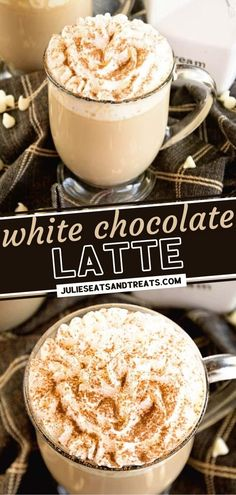 This recipe lets you have your caffeine fix whenever you want! White Chocolate Latte is perfect while you are still snuggled up in your pajamas on the cozy fall weather. What are you waiting for? Make this quick, easy, delicious drink at home and enjoy sipping away! Chocolate Latte Recipe, Chocolate Hazelnut, Homemade Chocolate, Chocolate Lovers, Chocolate Recipes, White Chocolate, Yummy Drinks, Yummy Food, Truffle Recipe