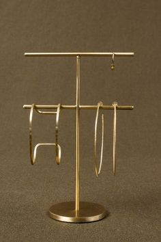 Large Brass Accessory Stand
