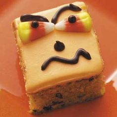 Halloween Pumpkin Bars, Just Cute!