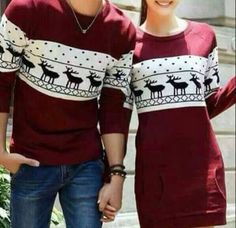 Winter #couples #matching #outfit #beautiful #color