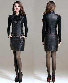 Women Autumn Winter sexy club dresses Sheath Faux Leather are you a night  life love that always hang out in night club try this sexy club dresses  with a b0ba9a9ef