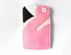 Flamingo iPhone 6 case pink flamingo felt by InspirationalGecko