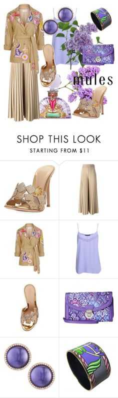 """The scent of lilac."" by m-kints ❤ liked on Polyvore featuring Gianvito Rossi, Givenchy, Temperley London, Pilot, Vera Bradley, Roberto Coin, Hermès and mules"