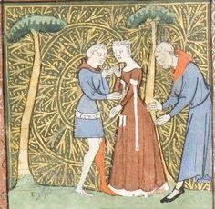 14th century (ca. 1365), French  University of Chicago Library  MS 1380: Roman de la Rose by Jean de Meun and Guillaume de Lorris  fol...