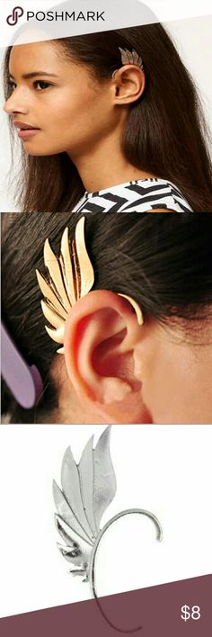 Free People Freewing Ear Cuff A silvery wing stands out among others as you gracefully go about your day, with style and grace.  Brand new without tags! Free People Jewelry Earrings