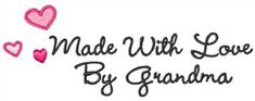 "Make your own tags with ""Made by Grandma"" machine embroidery design"