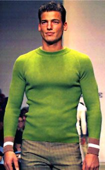 Jason Shaw wearing Gene Meyer, 1997 I love that color