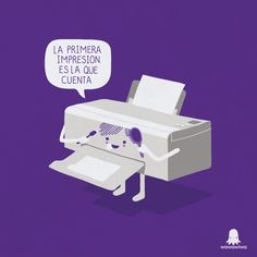 Who on earth has time for printer humor? Spanish Puns, Spanish Posters, Spanish Vocabulary, Cartoon Memes, Funny Cartoons, Funny Images, Funny Pictures, Funny Pics, Puns Jokes