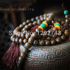 Multi-layer Tiger Ebony Buddha Beads Bracelets