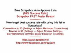 Free Scrapebox Auto Approve Lists - http://www.highpa20s.com/link-building/free-scrapebox-auto-approve-lists/