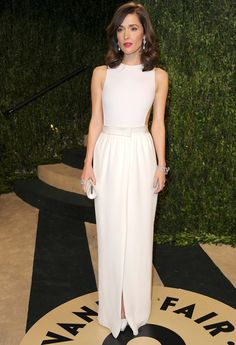 Rose Byrne in backless, white Lanvin at the Vanity Fair Oscar Party, Los Angeles, 2013.  Photo: Getty.