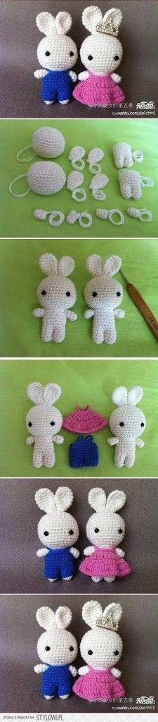Mesmerizing Crochet an Amigurumi Rabbit Ideas. Lovely Crochet an Amigurumi Rabbit Ideas. Crochet Diy, Crochet Amigurumi, Easter Crochet, Amigurumi Patterns, Crochet Crafts, Crochet Dolls, Yarn Crafts, Crochet Projects, Knitting Patterns