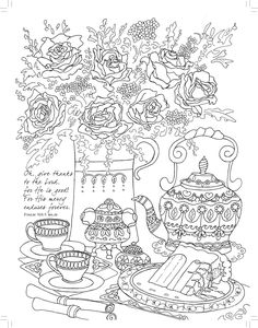 Tea For Two Coloring Friendship Majestic Expressions Books