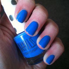 Topshop nail polish. Love this electric blue. My nails.