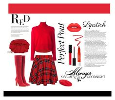 """""""Fall Beauty: Red Lipstick"""" by penelopepoppins ❤ liked on Polyvore featuring beauty, Lime Crime, Gucci, NARS Cosmetics, MM6 Maison Margiela, Trish McEvoy, Gianvito Rossi, Nina Ricci, Love Quotes Scarves and ASOS"""