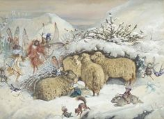 John Anster Fitzgerald: Fairies in the snow