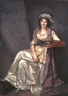 Portrait of Louise Elizabeth Vigee Lebrun with her Palette 1793