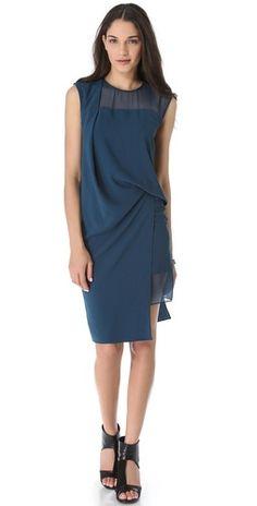 Helmut Lang Fluid Crepe Dress