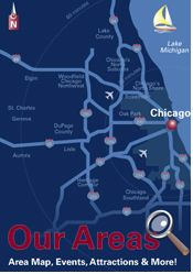 Chicago Chicagoland - Our Areas - Area Map, Events, Attractions and More!