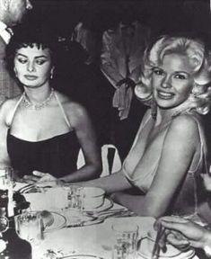 Classic moment between Sophia Loren and Jayne Mansfield