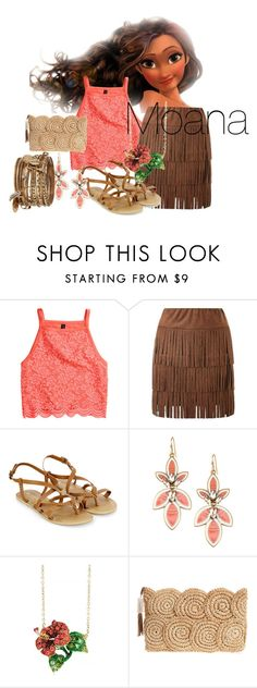 """Moana inspired outfit"" by theatre-queen ❤ liked on Polyvore featuring H&M, Lipsy, Accessorize, Stella & Dot, Andrew Hamilton Crawford, Flora Bella and ALDO"