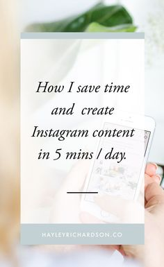 Sick of spending your life creating content for Instagram? Create consistent, breathtaking Instagram content in 5 minutes per day! Read how here.