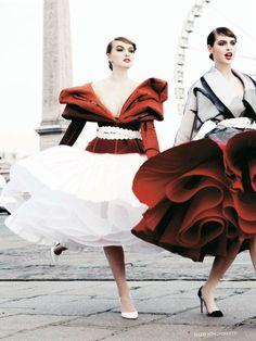 Anais Pouliot by Ellen von Unwerth for Vogue Russia, April 2011