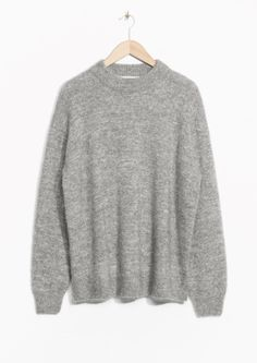 & Other Stories image 2 of Essential Mohair/Wool Knit in Grey