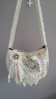 shabby chic bag made by Natalie