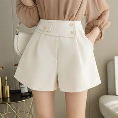 Mixed Fiber, Wide Leg, Color Black, Short Dresses, Women's Fashion, Legs, Shorts, Outfits, Products