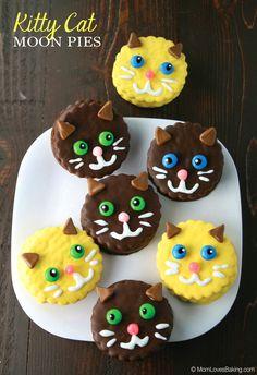 Kitty Cat Moon Pies | Mom Loves Baking