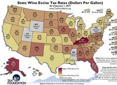 State Wine Tax Rates 2013