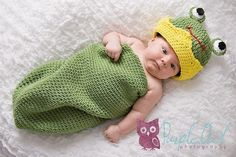 Frog Prince Cocoon and Crown Beanie Hat by SandysCapeCodOrig, $5.95