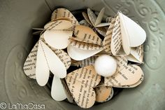 A personal favorite from my Etsy shop https://www.etsy.com/listing/120773010/sale-5-paper-garlands-ivory-french