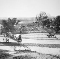 Covered Wagon crossing Tecolate Creek, New Mexico, 1867