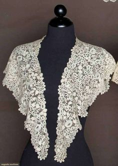 Beautiful lace Fichu from the 19th century. A fichu is a ...