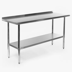 Gridmann NSF Stainless Steel Commercial Kitchen Prep U0026 Work Table W/  Backsplash   60 In