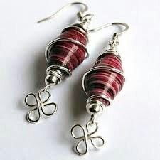 Paper beads and wire