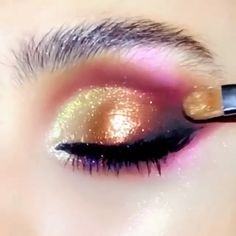 aesthetic makeup videos So beautiful! 70s Makeup, Makeup Eye Looks, Eye Makeup Art, Beautiful Eye Makeup, Eyebrow Makeup, Eyeshadow Makeup, Nice Makeup, Eye Makeup Steps, Makeup Eyes