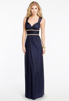 Beaded Double Empire Waist Dress from Camille La Vie and Group USA