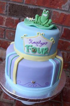 Princess Frog Fondant Cake