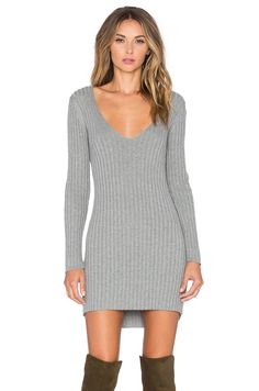 da28fabd84 Shop for For Love   Lemons Everyday Knit V-Neck Dress in Grey at REVOLVE.  Free day shipping and returns