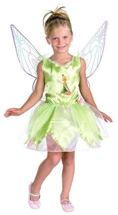 Kids Tinkerbell Prestige Costume (Dress, Wings) - costumecity.com