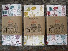 #teatowelpackaging #bellybands #cardboard #printed #teatowels