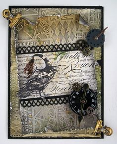 One of the new stamps from Stampendous is this fabulous Raven with the background script from Poe. The DT from Stampendous are hopping this ...
